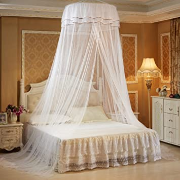 Bed Canopies for a Full Bed Hanging Round Lace Canopy Bed Netting Comfy Student & Amazon.com: Bed Canopies for a Full Bed Hanging Round Lace Canopy ...