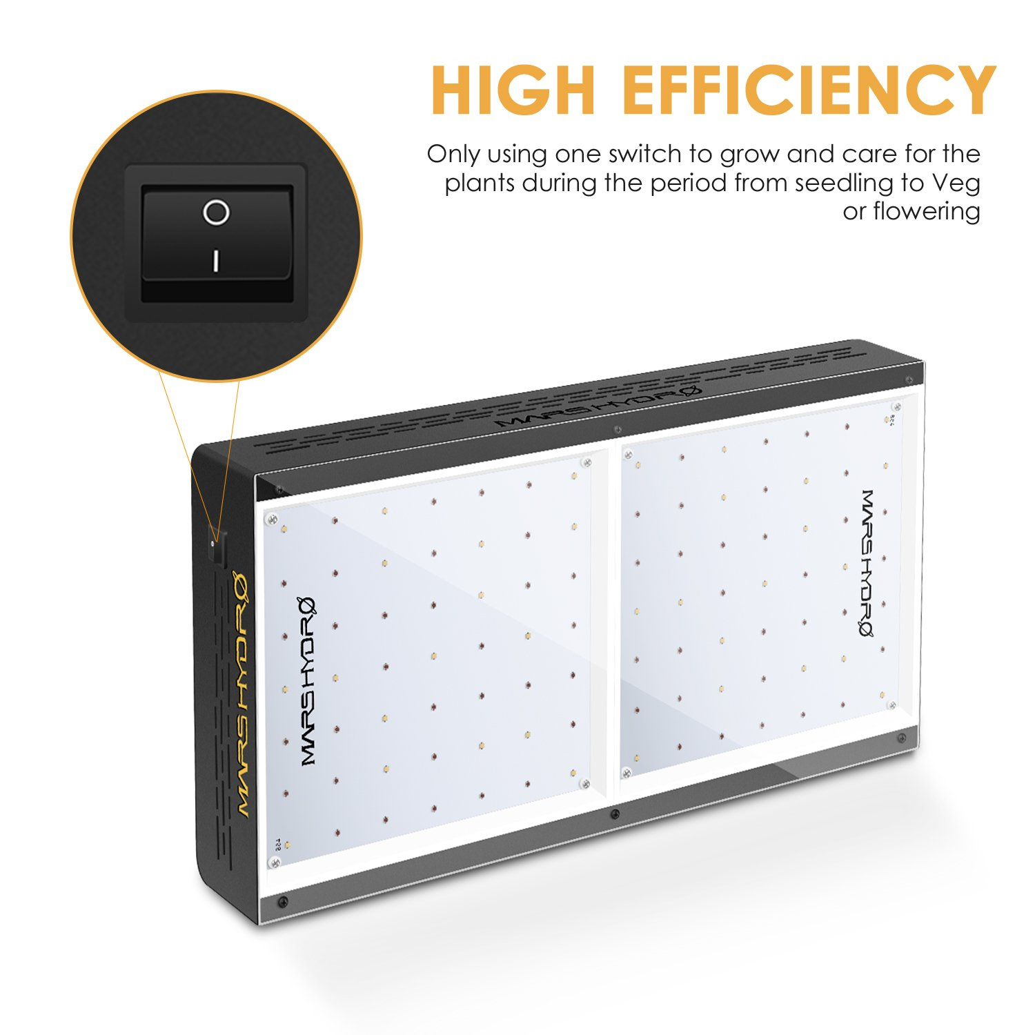 MARS HYDRO 300W 600W LED Grow Light Full Spectrum for Indoor Plants Veg and Flower Hydroponic with Thermometer Hygrometer Hanger Growing Daisy Chain and Switch Cool and Quiet ECO 300W