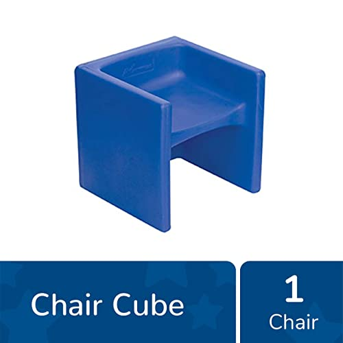 Children s Factory Cube Chair, 15 by 15 by 15 Blue Versatile – Use as a Low or High Chair, Table and Adult Seat Durable and Lightweight Indoor or Outdoor Use CF910-009