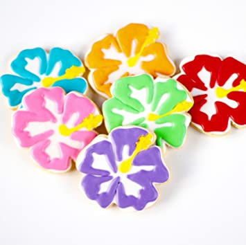 Amazoncom ½ Dz Hibiscus Flower Cookies Serene And Full Of Color