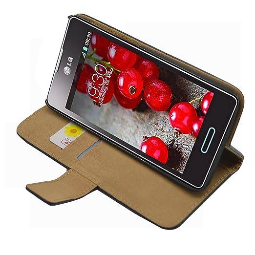 41 opinioni per Nera Portafoglio Custodia per LG E460 Optimus L5 II- Flip Case Cover + 2