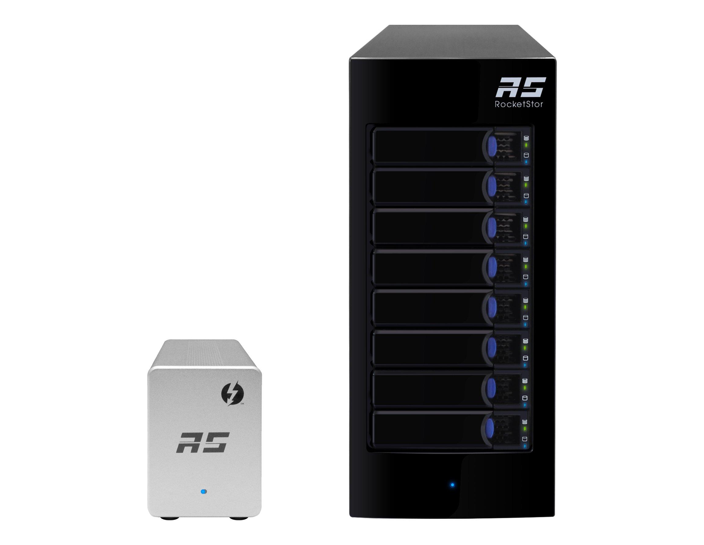 HighPoint RocketStor 6328LS 8-Bay Thunderbolt 2 Diskless SATA JBOD Storage Solution