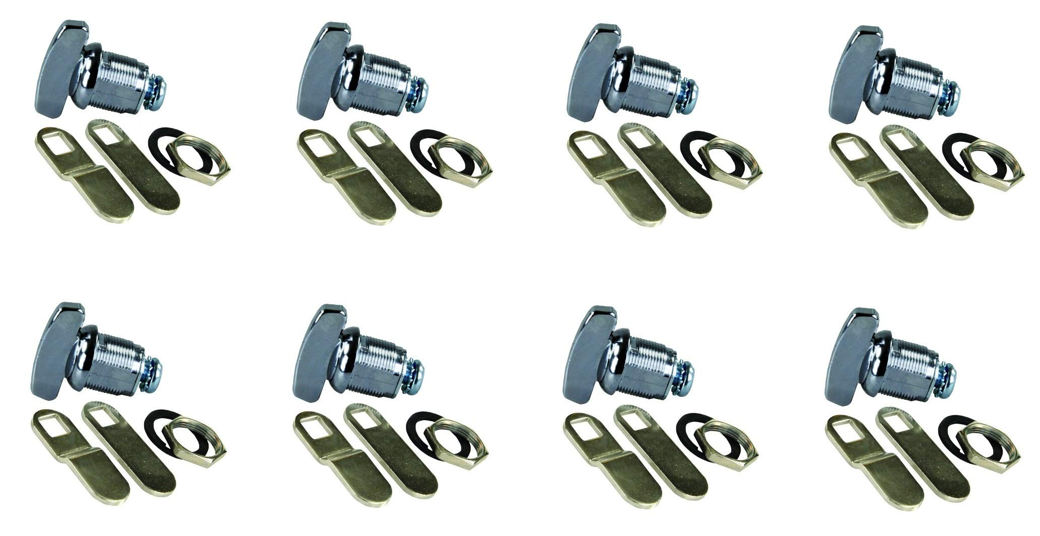 JR Products 00115 Deluxe Compartment Thumb Lock - 5/8'' (5/8 Inch (pack of 8)) by JR Products