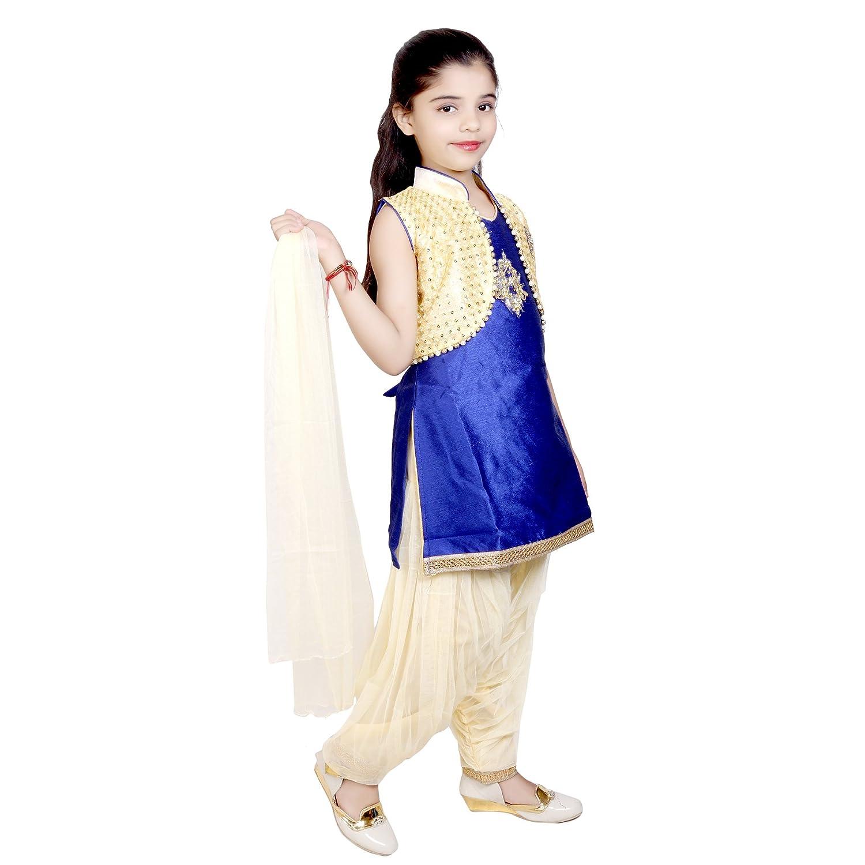 d97db742c92 Kbkidswear girls party wear kurta patiala suit with dupatta set clothing  accessories jpg 1500x1500 Kbkidswear amazon