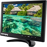 Sourcingbay Portable Mini 10.1 Inch IPS Monitor Support HDMI/BNC/VGA/AV Input 1280*800 HD Full Color LED Screen with Remote Control for PC CCTV Camera