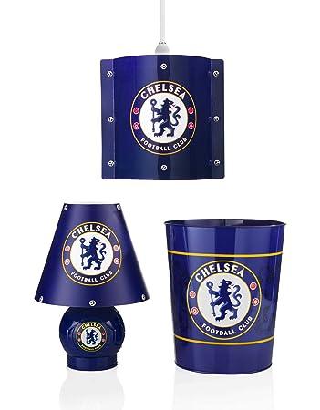 Chelsea FC Lamp  Bin   Pendant Shade Bedroom Set. Chelsea FC Lamp  Bin   Pendant Shade Bedroom Set  Amazon co uk