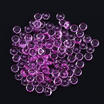 ROSENICE 3 paquetes de cuentas de pecera bolas de relleno de plástico florero bolas de pecera ...