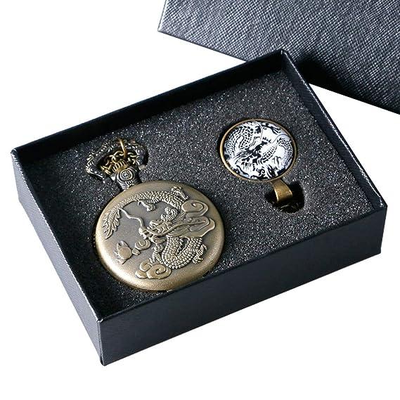 Lujoso Reloj de Bolsillo para Hombre, Relojes de Bolsillo de Regalo Antiguos, para niños, Reloj de Bolsillo con Cadena de Bolsillo para Adolescentes: ...
