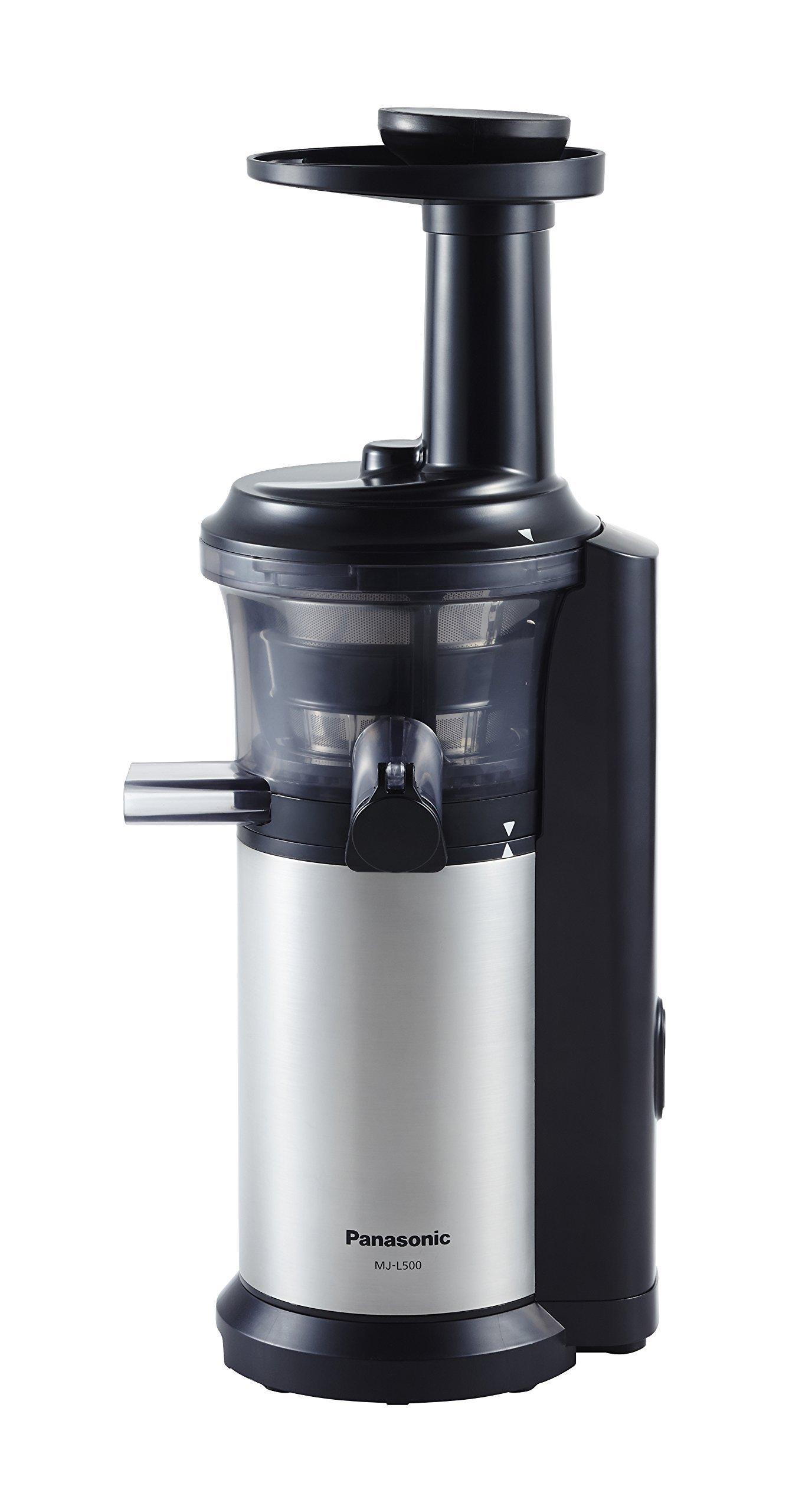 Panasonic MJ-L500 Slow Juicer with Frozen Treat Attachment, Black/Silver (Renewed) by Panasonic