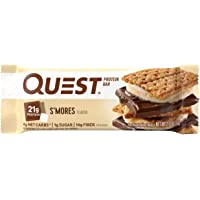 Quest Nutrition S'mores Protein Bar, High Protein, Low Carb, Gluten Free, Soy Free, Keto Friendly, 12 Count