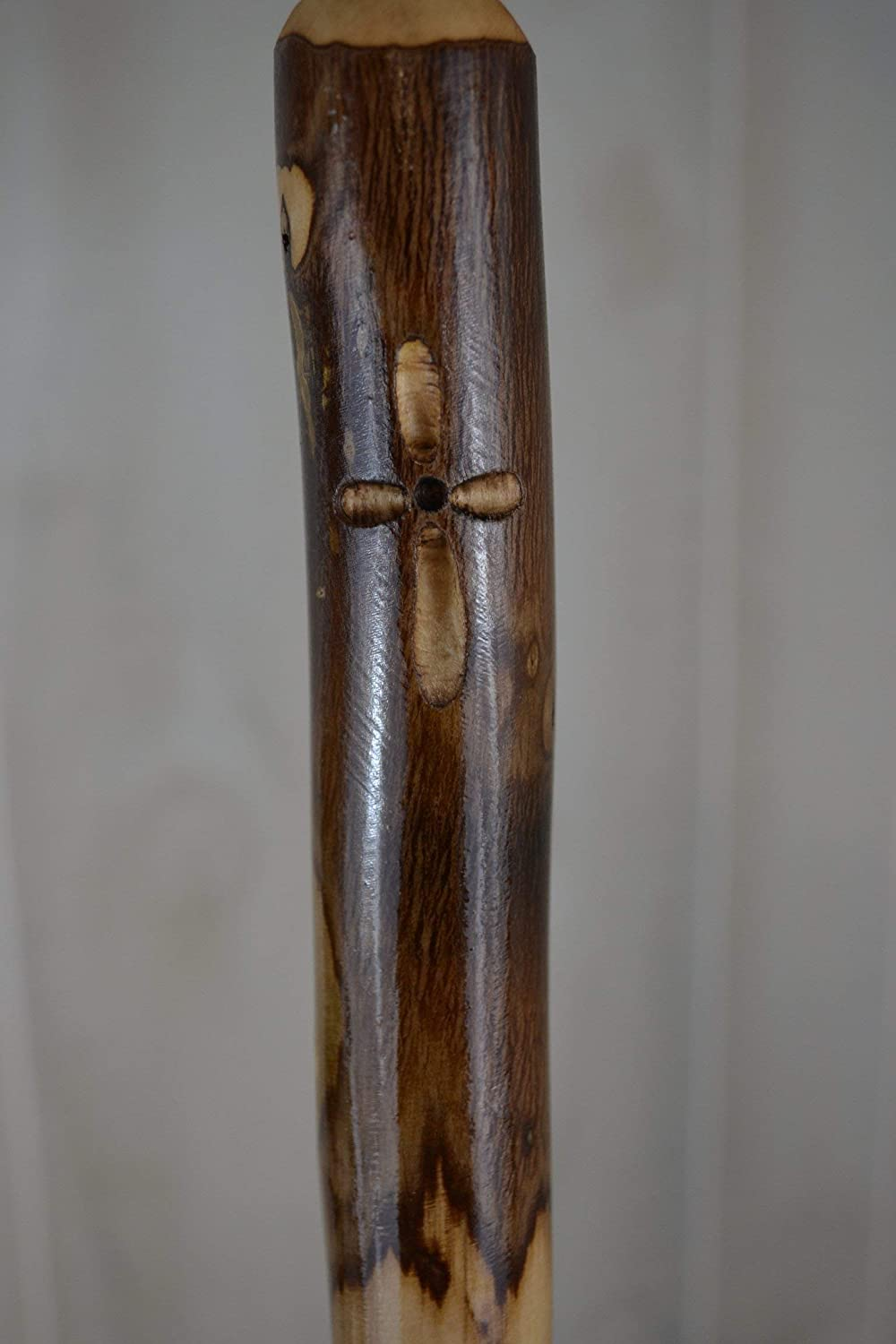 Hand Carved Hiking Staff in Ash by Creation Carvings Walking Stick