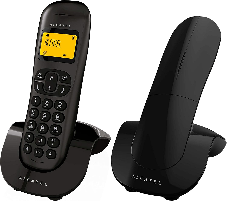 Alcatel C250 Duo - Teléfono Fijo inalámbrico, Color Negro: Alcatel: Amazon.es: Electrónica