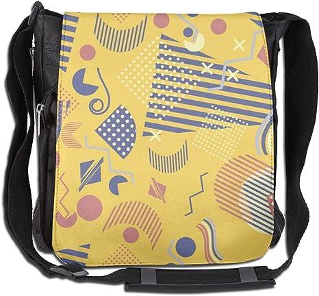 Personalised Yellow Retro Messenger Bag