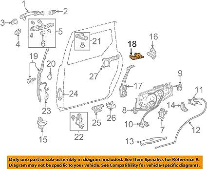 Toyota 68766-08011 - Soporte para puerta corredera: Amazon.es: Coche y moto