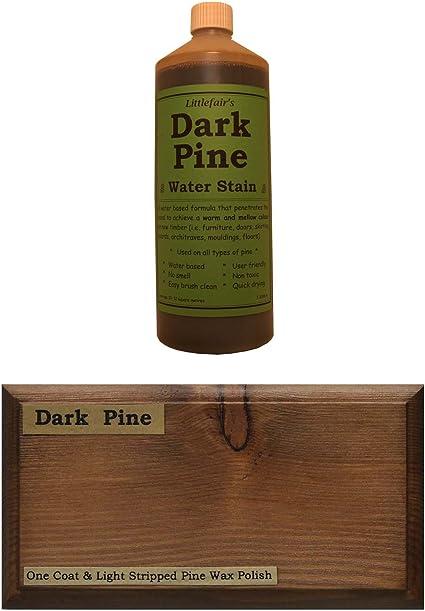 Tinte para madera a base de agua de Littlefairs, respetuoso con el medio ambiente, Pino oscuro, 250 ml