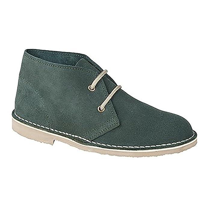 Roamers Damen Desert Boots / Wüstenstiefel / Schuhe, Wildleder, ungefüttert (39 EU) (Denim Blau)