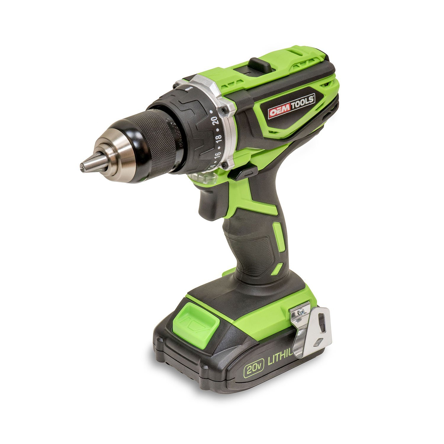 OEMTOOLS 24482 Drill (Heavy Duty 1/2 in. 2 Speed Cordless 20V Li-Ion), 1 Pack