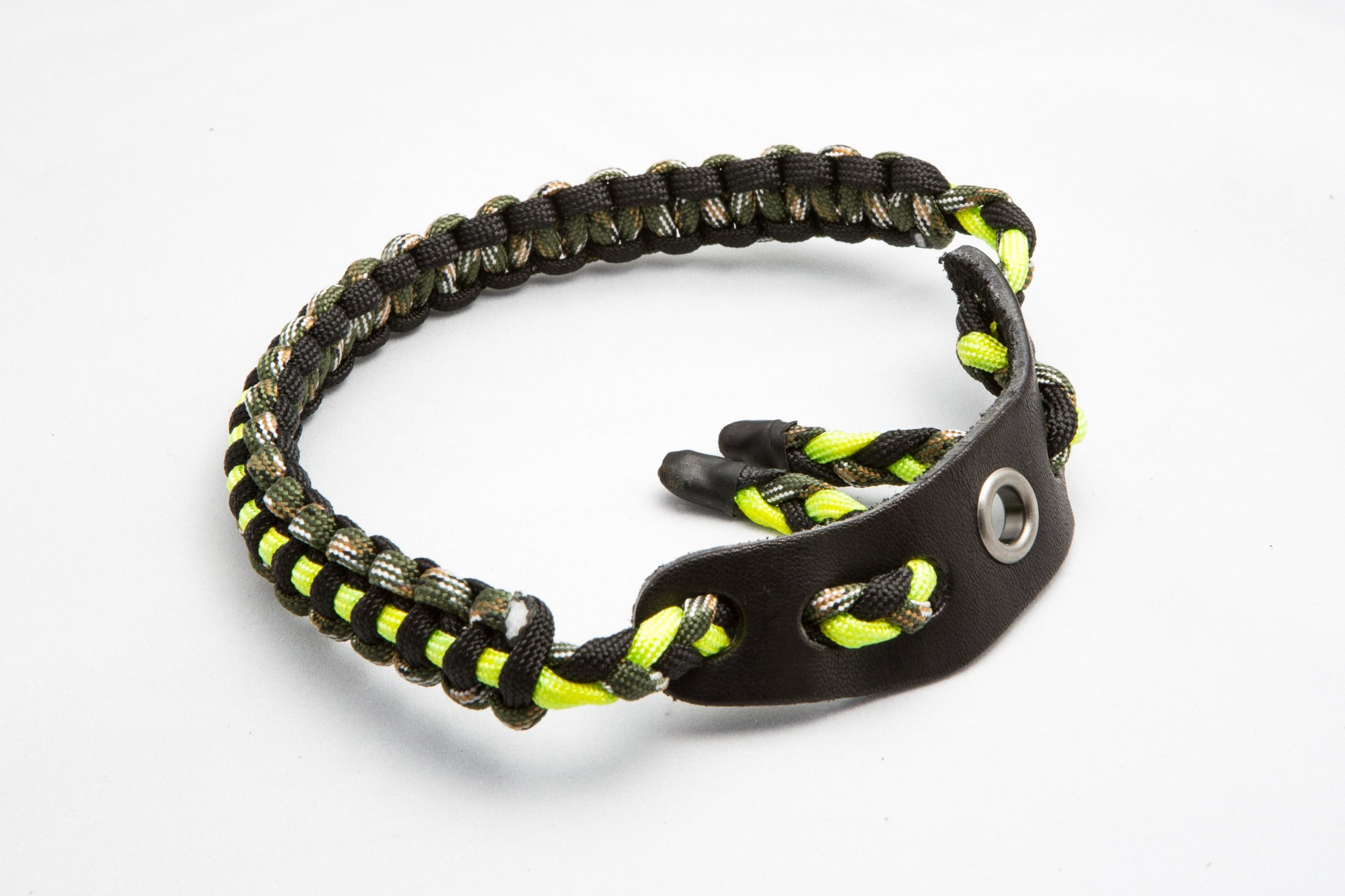 Ace Two Tactical Bow Wrist Sling 550 Paracord - Survival Hunting Shooting - Durable Leather with Grommet (Fluorescent Green) by Ace Two Tactical