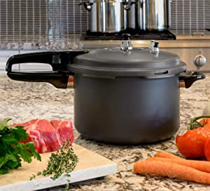 7.4-Quart Pressure Cooker Fast Cooker Canner Pot Large Capacity Titanium Matte-Pressure Cookers-Rice cooker-Pressure cooker-Small appliances-Crock pots/ cookers- cooker-Kitchen accessories