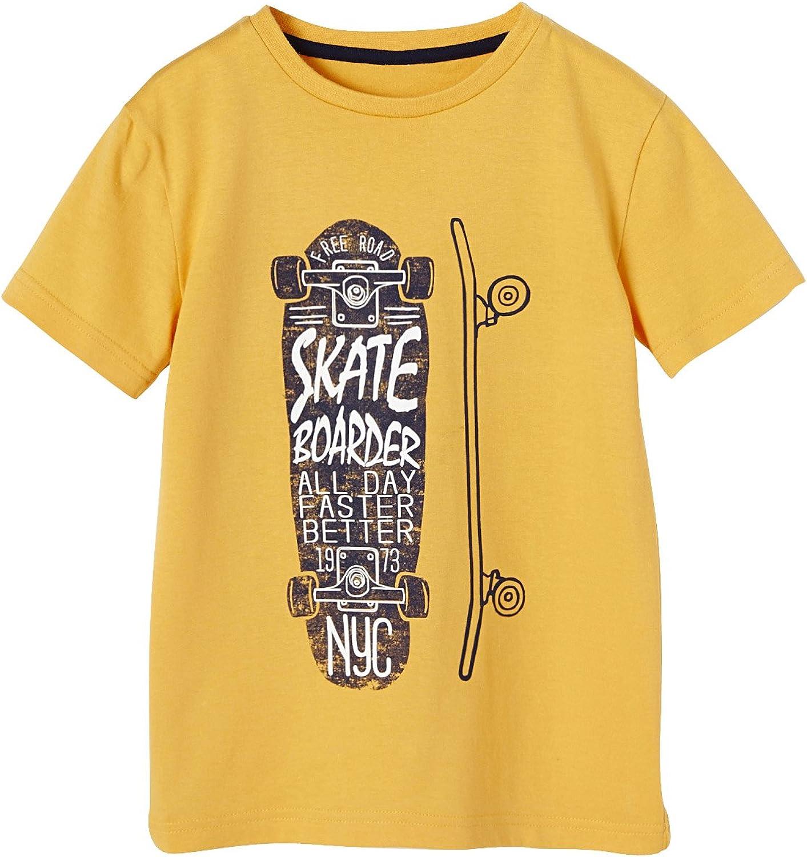 VERTBAUDET Camiseta niño Estampada monopatín: Amazon ...