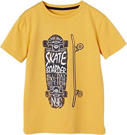 VERTBAUDET Camiseta niño Estampada monopatín: Amazon.es: Ropa ...
