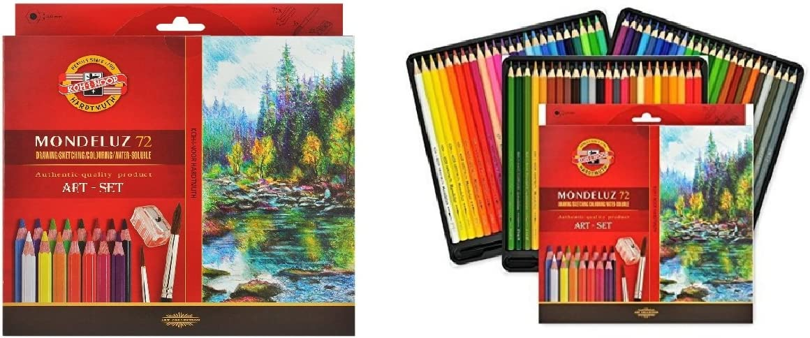 Koh-i-noor Mondeluz Aquarell Drawing Set. 72 Colored Pencils.