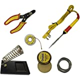 Shopee 6 In1 Electric Soldering Iron Stand Tool Wire Stripper Starter Tool Kit 25 Watt