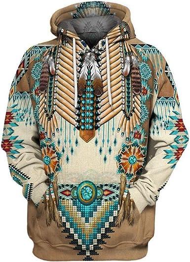 Vintage Ethnic Pattern 2 Unisex Pullover Teens Hoodie Hooded Sweatshirt Colorful