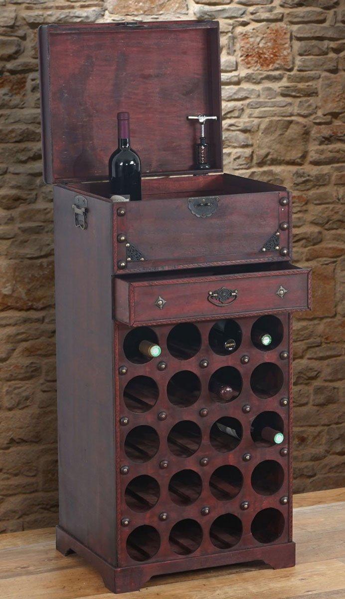 Mobili per vino x massiccia usato casse di legno scatole for Mobile porta bottiglie
