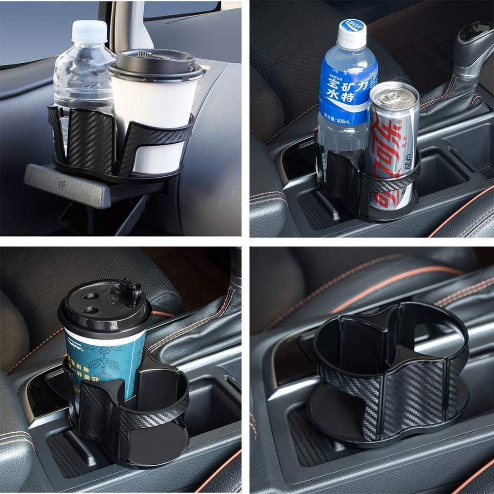 universal Getr/änkehalter PU-Leder tragbar Getr/änkehalter mit Lederbezug Autositz-Organizer in Herzform Auto-Aufbewahrungsbox zum Verstauen von Getr/änken Autositz
