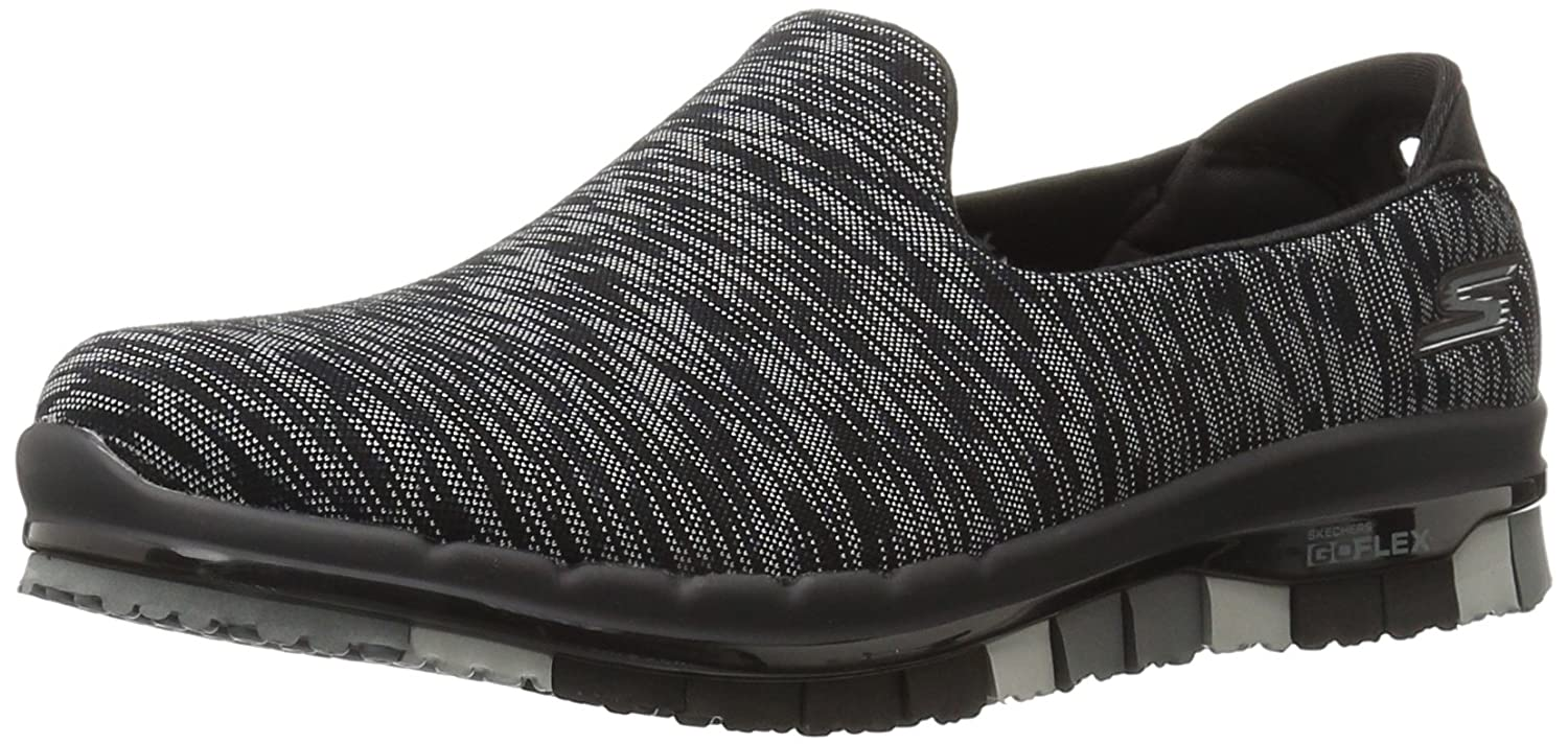 Skechers Performance Women's Go Flex Slip-On Walking Shoe B01AH4M7UO 7 B(M) US|Black Multi