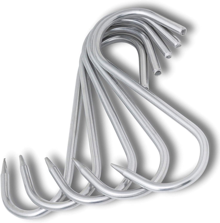 5 St/ück TronicXL Premium S-Haken EDELSTAHL 100mm x 4mm Fleischhaken Fleischerhaken Metzgerhaken R/äucherhaken Edelstahlhaken Metzgerei Metzger Fleischer rostfrei Metall Wildhaken Fleischerei