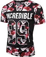 1991NC メンズ Tシャツ 半袖 スリム 快適 モード 爽やか 上質 立体感 贈り物 選べる45パターン (国内正規品)(S M L XL XXL XXXL)