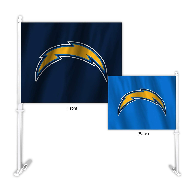 Fremont Die NFL Los Angeles Chargers  Home & Away Car Flag Fremont Die Inc. 70722