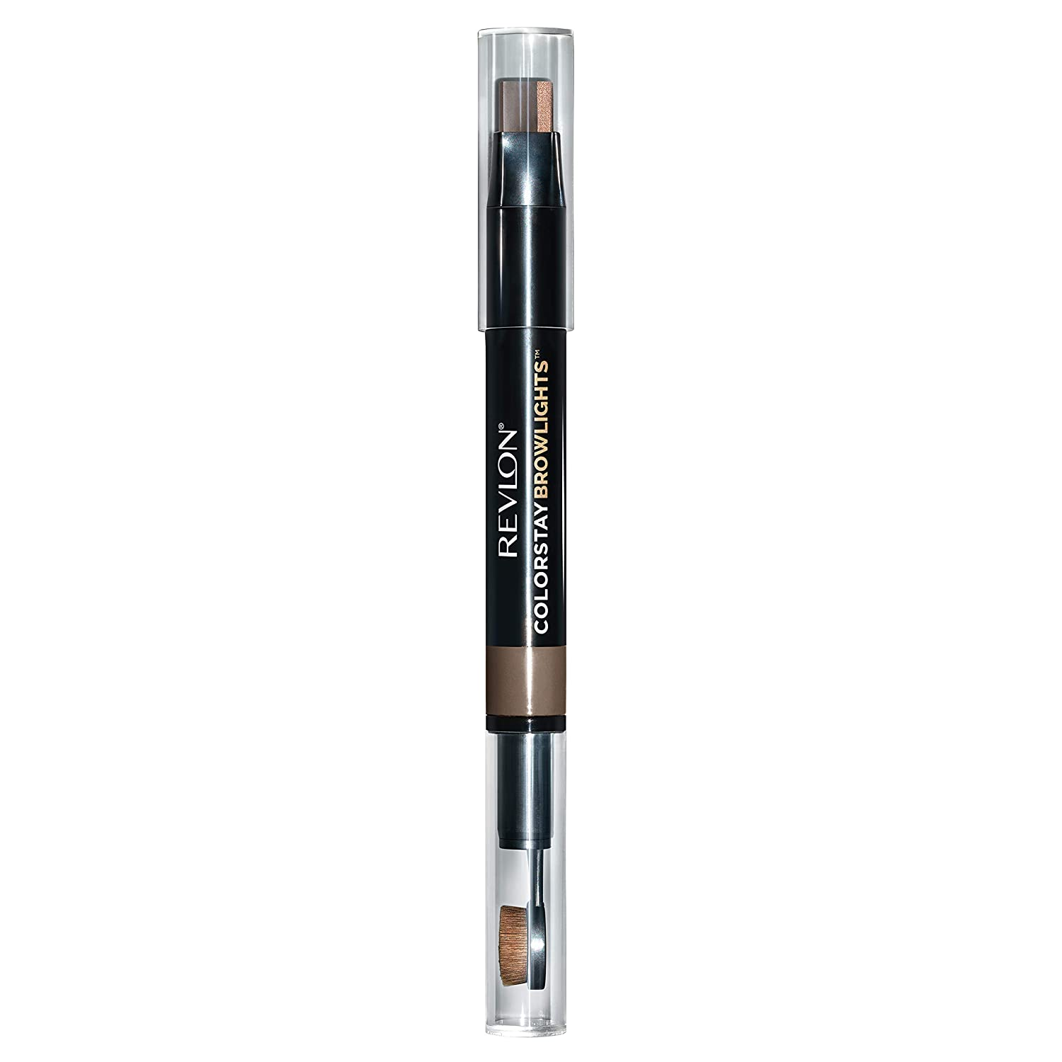 Revlon Colorstay Browlights Pencil, Eyebrow Pencil & Brow Highlighter, Medium Brown, 0.038