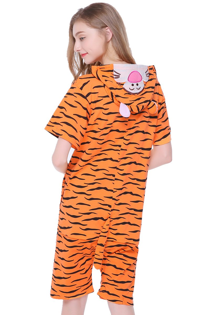 kxry Unisex Adult Cartoon Tigger Cosplay Costume Summer Pajamas Onesies (X-Large)