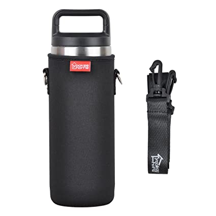 yookeehome Neoprene Water Bottle Sleeve for 18oz YETI Tumbler with  Removable Shoulder Strap, Insulated Bottle Holder for YETI