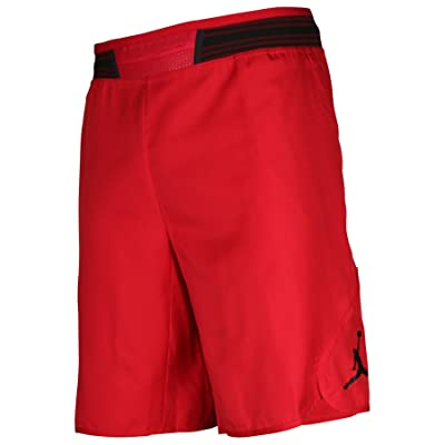 reputable site 638a7 77ea2 NIKE Men s Jordan Mid-Flight Victory Basketball Shorts Red Black 821917-687