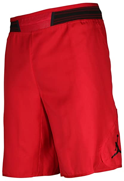37960fb4ed6f Men s Jordan Mid-Flight Victory Basketball Shorts Red Black 821917-687 ...