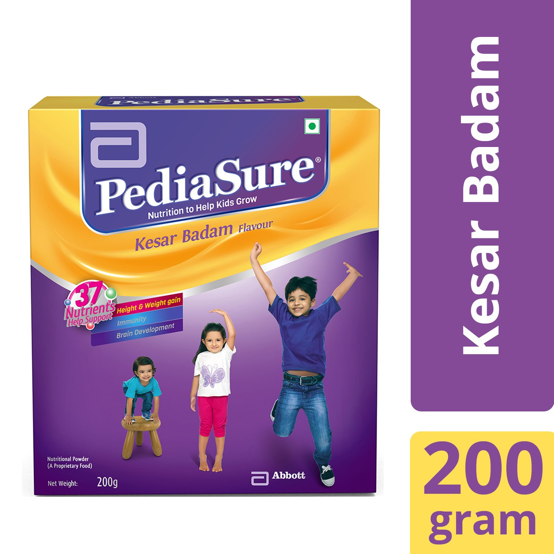 PediaSure Health & Nutrition Drink Powder for Kids Growth - 200g (Kesar Badam) product image