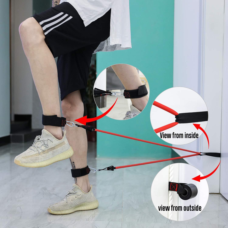 Conjunto de bandas de resistencia FitBeast hasta 100 lb Bandas de entrenamiento de estiramiento f/ísico con 5 tubos de entrenamiento gimnasio gimnasio en casa fisioterapia 4 manijas de espuma