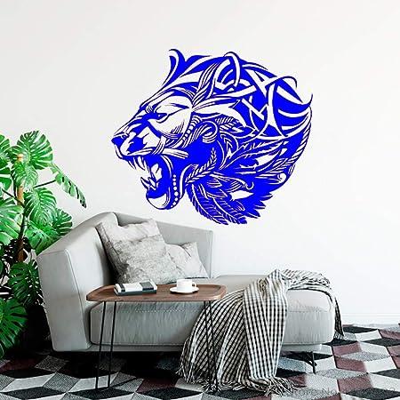 xingbuxin Tatuajes de Pared Cabeza de león Africano Vinilo ...