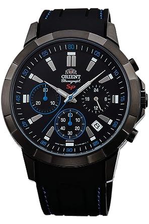 Orient Reloj Cronógrafo para Hombre de Cuarzo con Correa en Caucho FKV00007B0: Amazon.es: Relojes