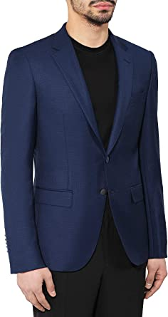 Hugo Boss The Grand Regular Fit Blue Check Two Button Wool Blazer Sportcoat