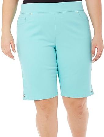 674f0738deb Gloria Vanderbilt Women s Plus-Size Avery Denim Pull-On Skimmer Short -  Blue -