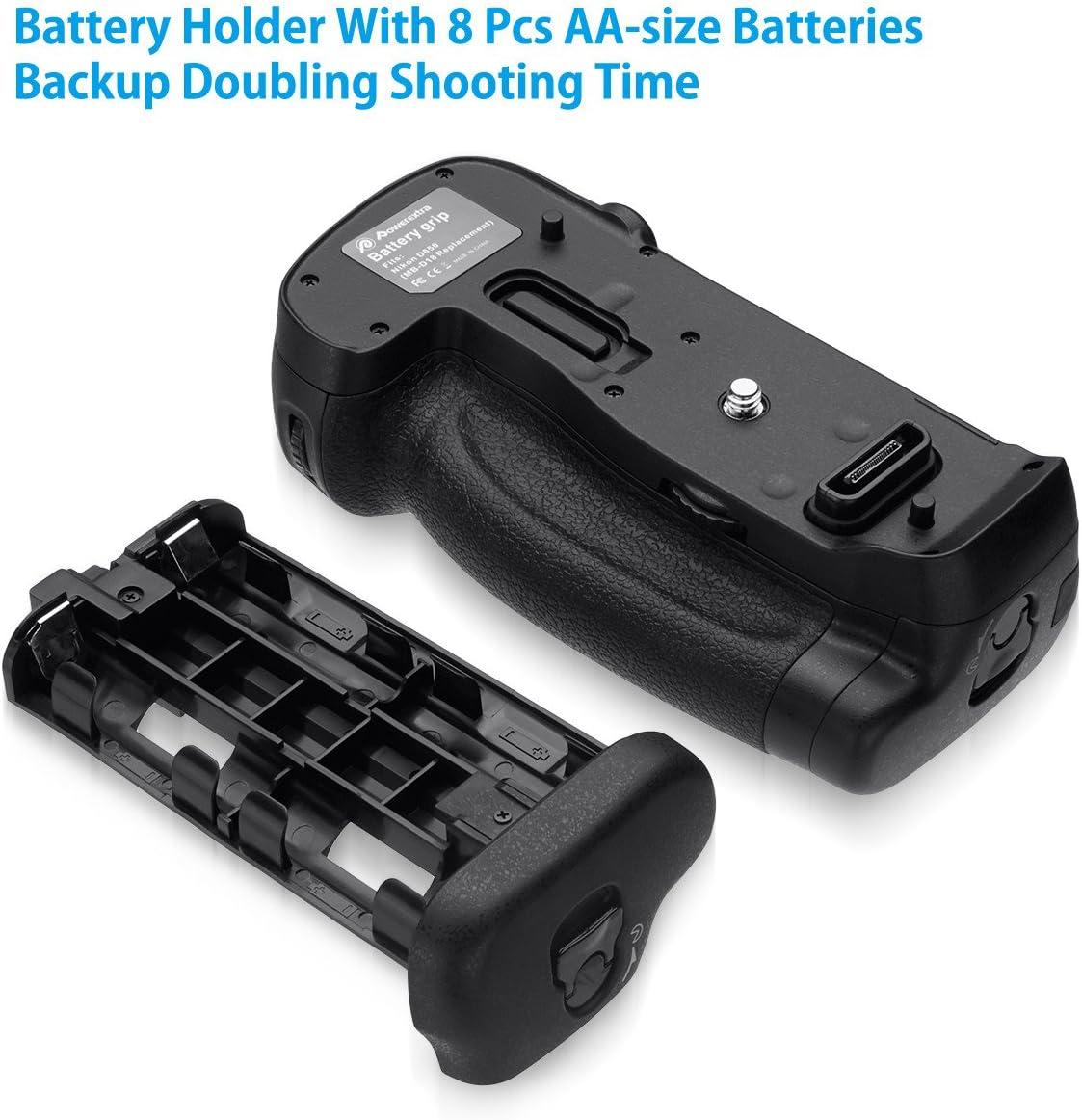 9FPS 7FPS Powerextra MB-D18 Battery Grip or EN-EL18 a//b Battery AA-Size Battery Holder Compatible with Nikon D850 Digital SLR Camera Work with EN-EL15 EN-EL15a //AA-Size Batteries