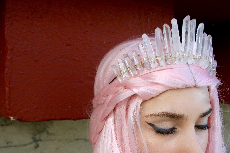 Crystal Quartz Crown, Mermaid Crown, Wedding Crown, Bridal Crown