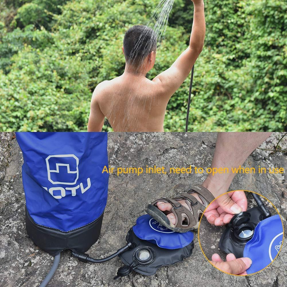 OWNTHRE 11L PVC Ducha Inflable al Aire Libre Ducha de presi/ón Plegable Bolsa de Agua Ducha port/átil de Campamento con Bomba de pie para Acampar al Aire Libre Viajes Senderismo Escalada