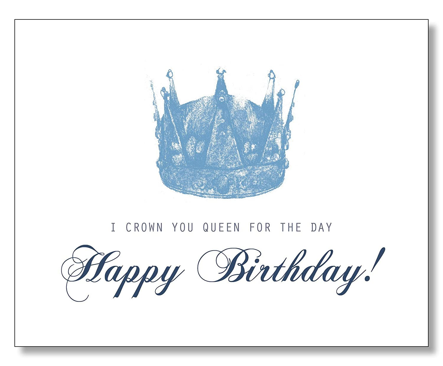Amazon.com: QUEEN FOR THE DAY HAPPY BIRTHDAY CARD: Handmade