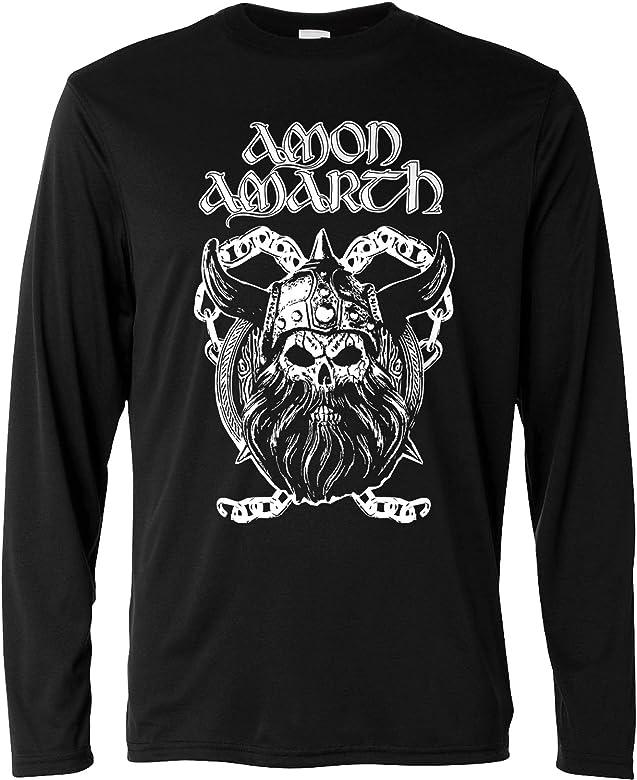 LaMAGLIERIA Camiseta de Manga Larga Hombre - Amon Amarth - Viking Skull - Long Sleeve 100% Algodon, S, Negro: Amazon.es: Ropa y accesorios
